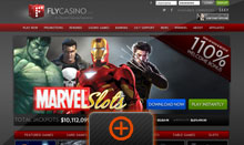 Fly Casino home page