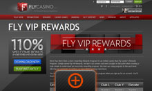 Fly Casino Rewards page